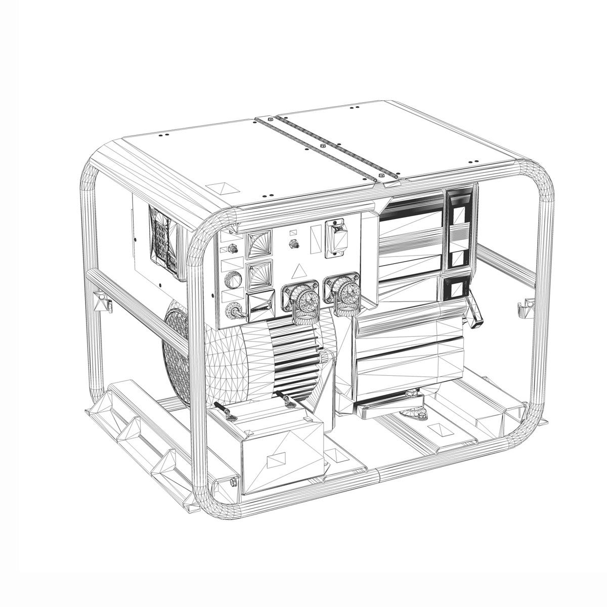 military diesel generator 3d model 3ds fbx c4d lwo obj 188564