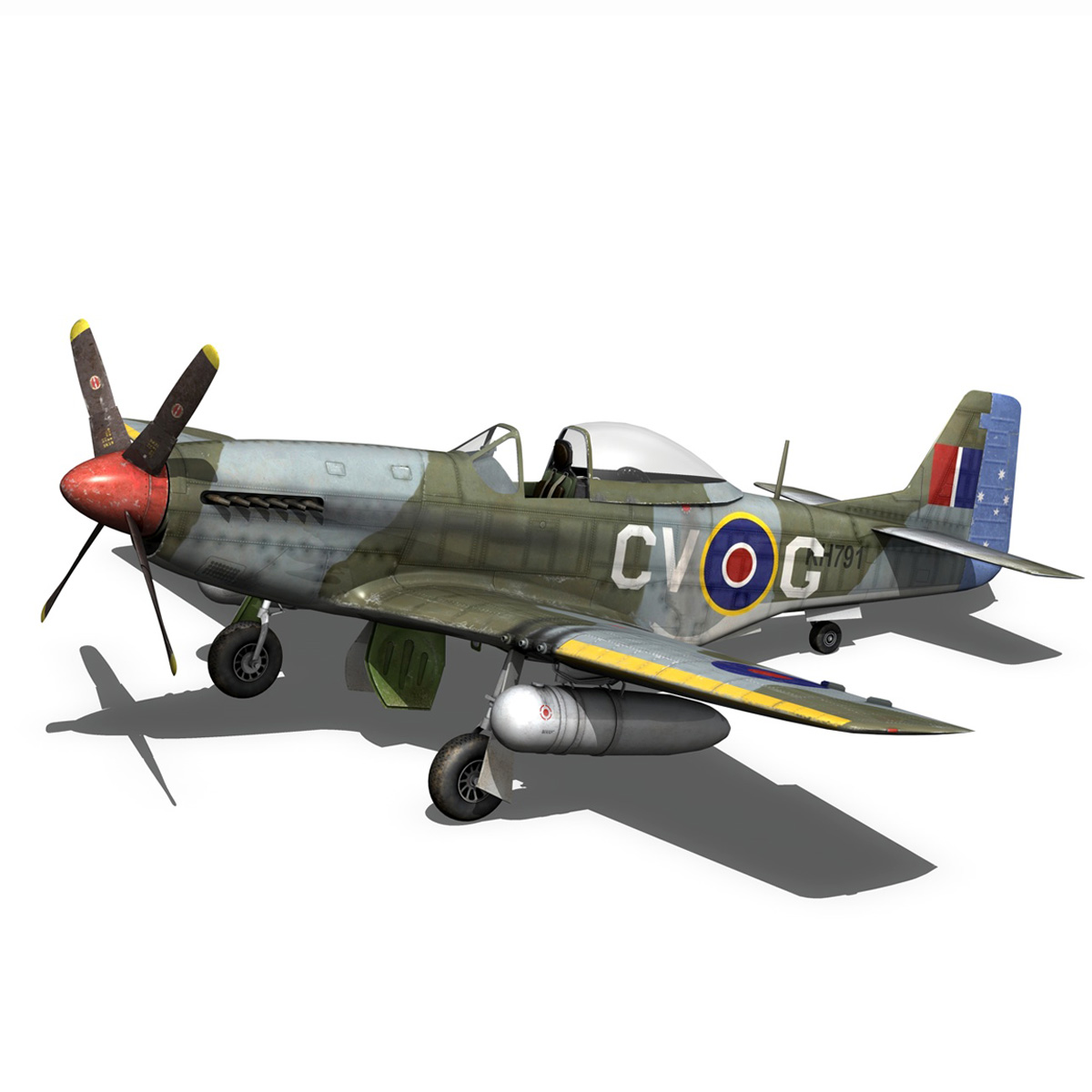 north american p-51d – cv-g 3d model 3ds fbx c4d lwo obj 188568