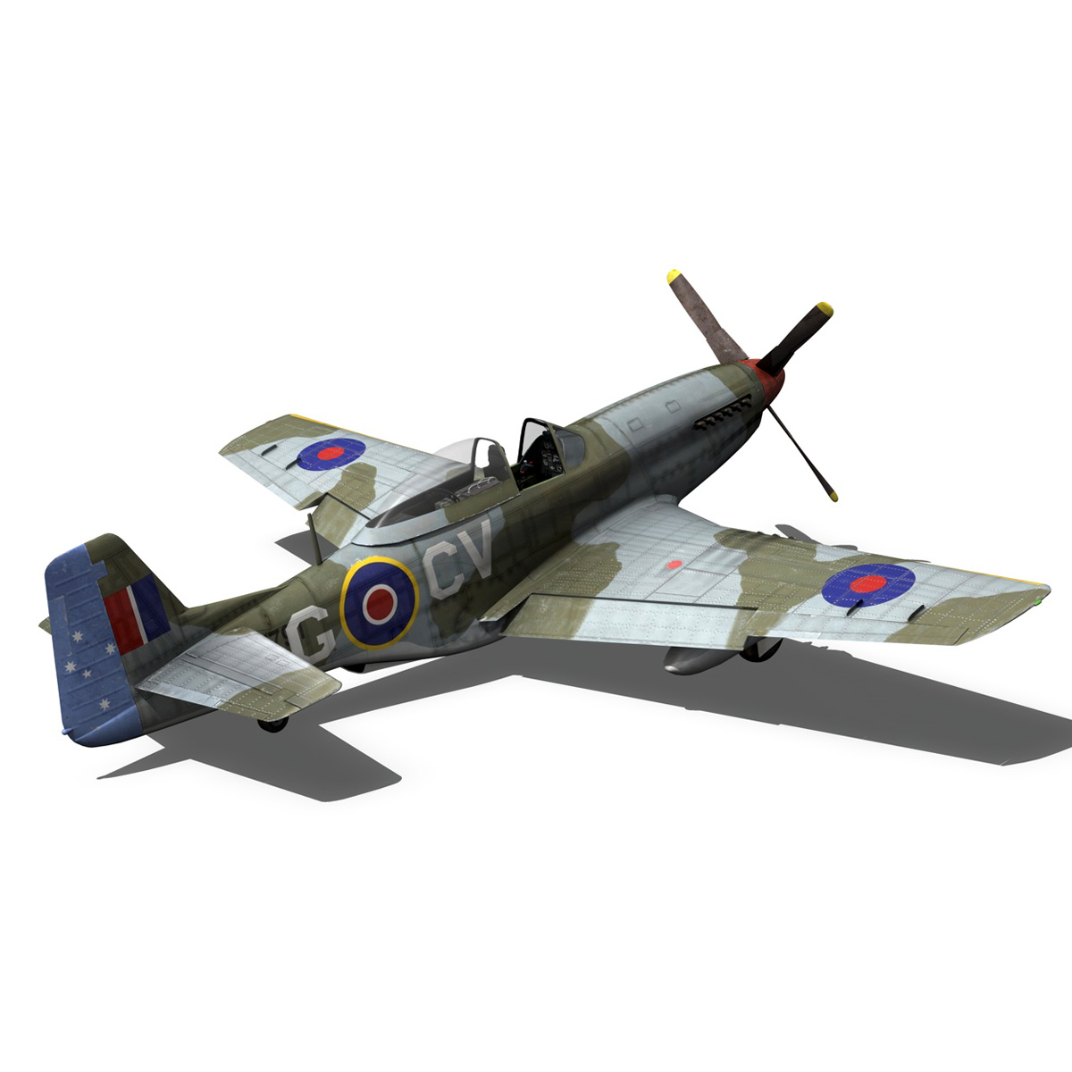 north american p-51d – cv-g 3d model 3ds fbx c4d lwo obj 188570
