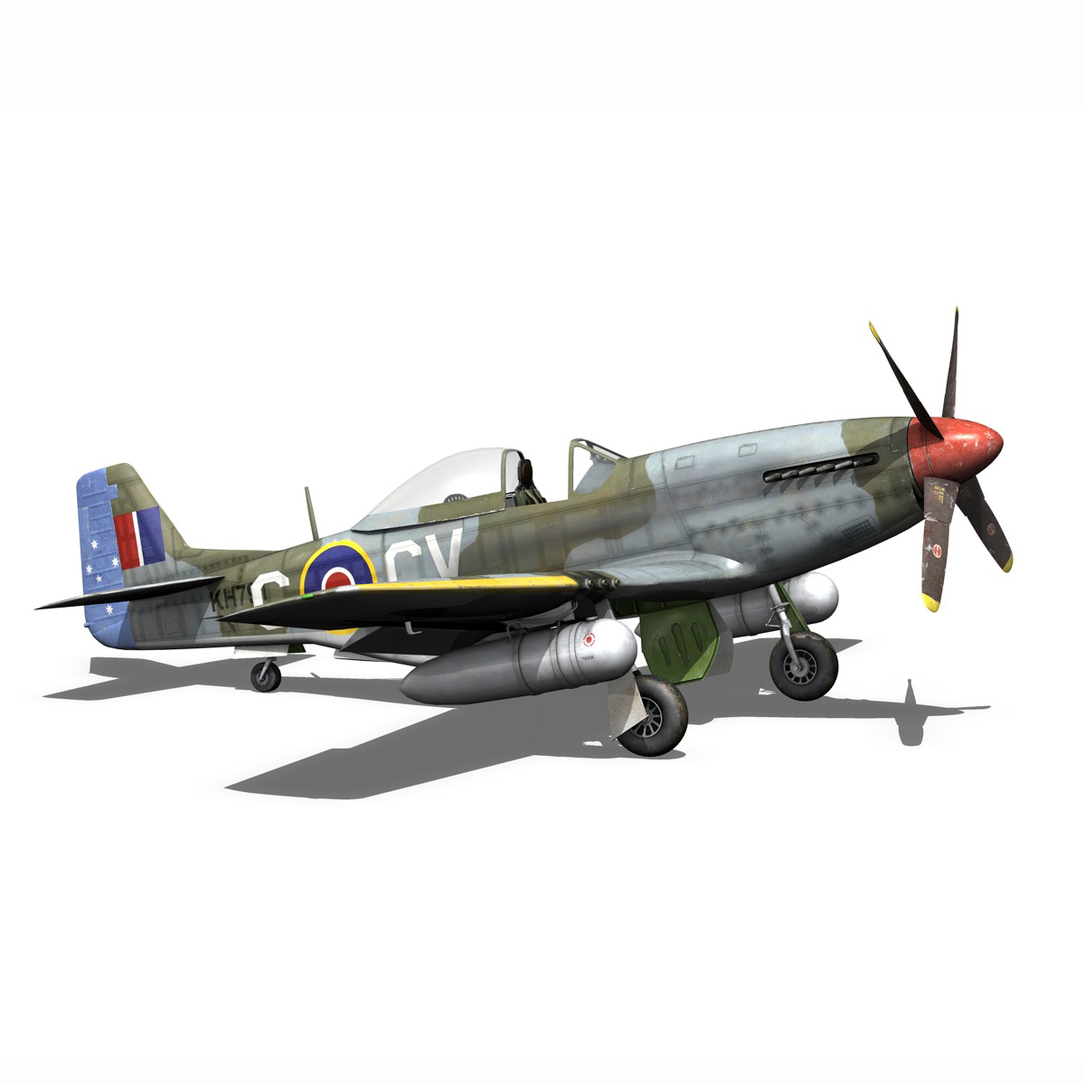 north american p-51d – cv-g 3d model 3ds fbx c4d lwo obj 188571