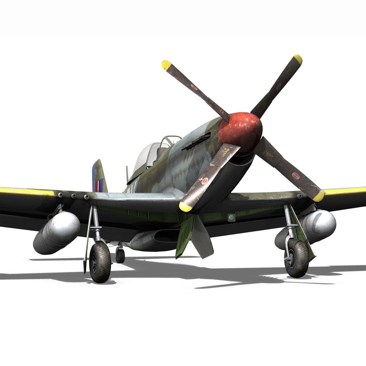 north american p-51d – cv-g 3d model 3ds fbx c4d lwo obj 188572