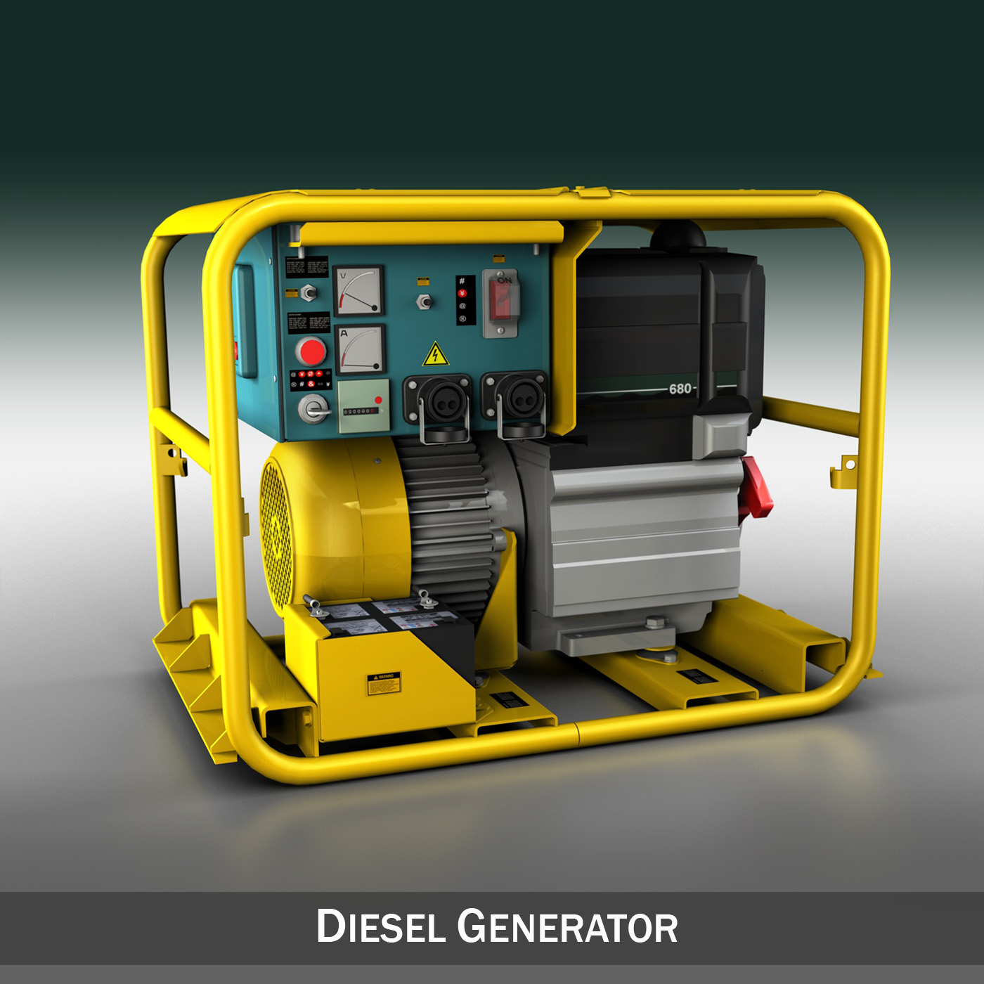 Diesel Generator 3d Model Buy Diesel Generator 3d Model