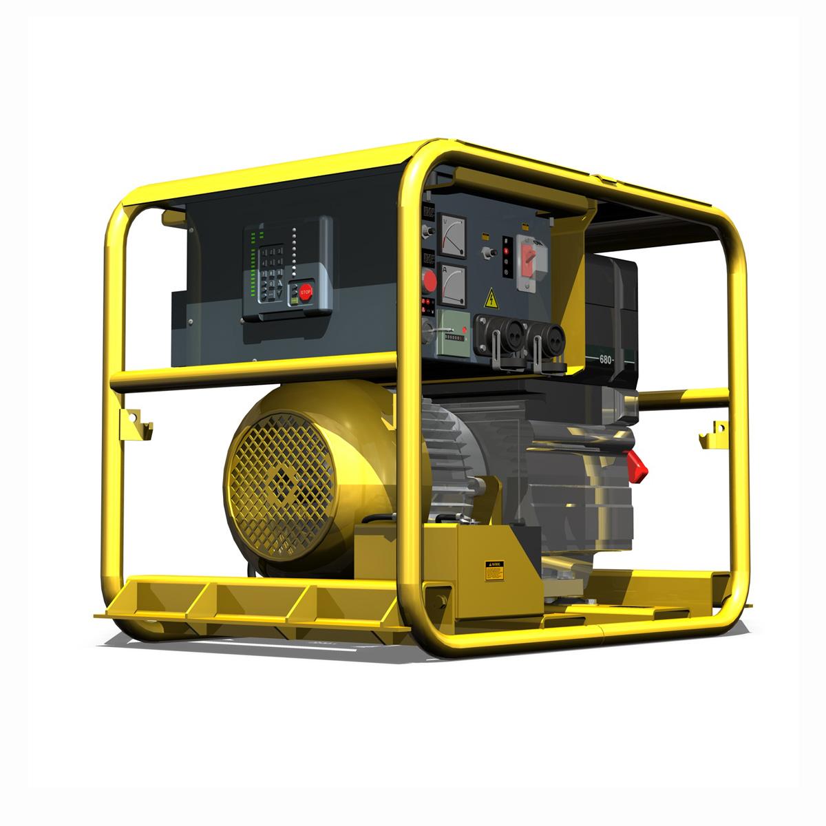 diesel generator 3d model 3ds fbx c4d lwo obj 188590