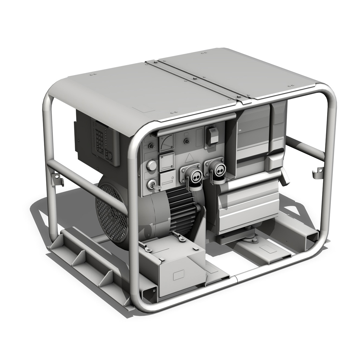 diesel generator 3d model 3ds fbx c4d lwo obj 188593