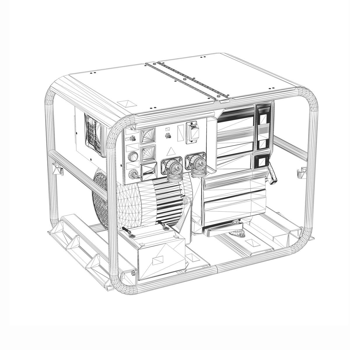 diesel generator 3d model 3ds fbx c4d lwo obj 188594