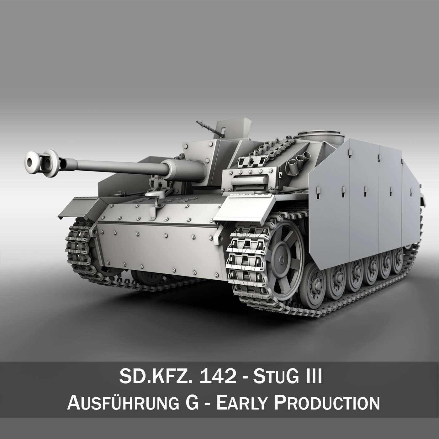 stug iii - ausf g Samhail 3d 3ds fbx c4d lwo obj 188788