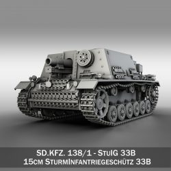 StuIG 33B - Self-propelled heavy Infantry Gun 3d model 0