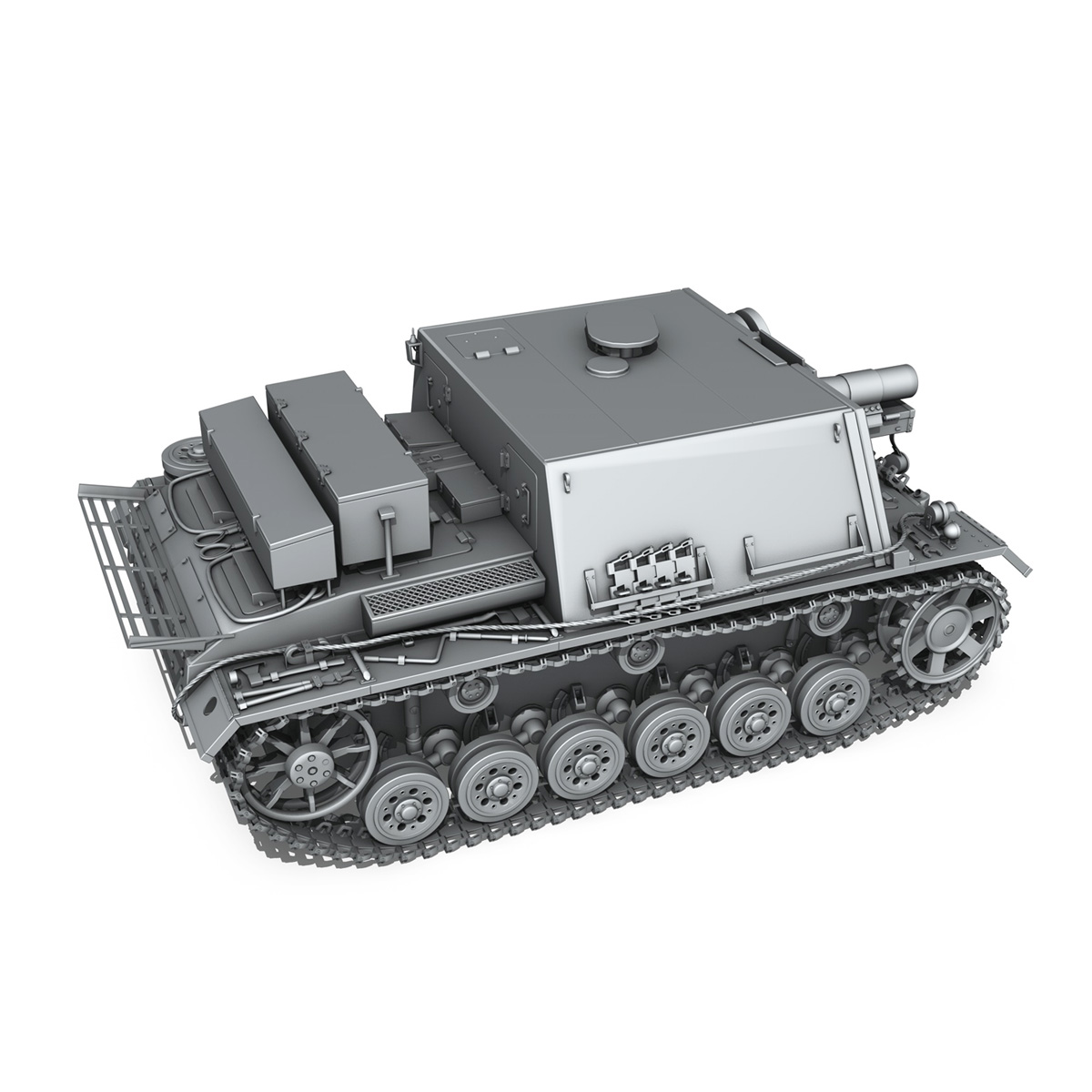 stuig 33b – self-propelled heavy infantry gun 3d model 3ds fbx c4d lwo obj 188844