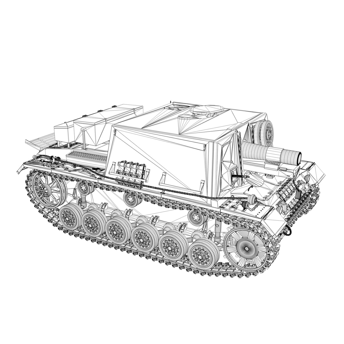 stuig 33b – self-propelled heavy infantry gun 3d model 3ds fbx c4d lwo obj 188847