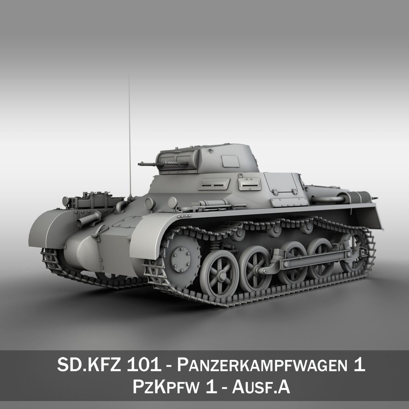 sd.kfz 101 pzkpfw 1 ausfuehrung a 3d model 3ds fbx c4d lwo obj 188865