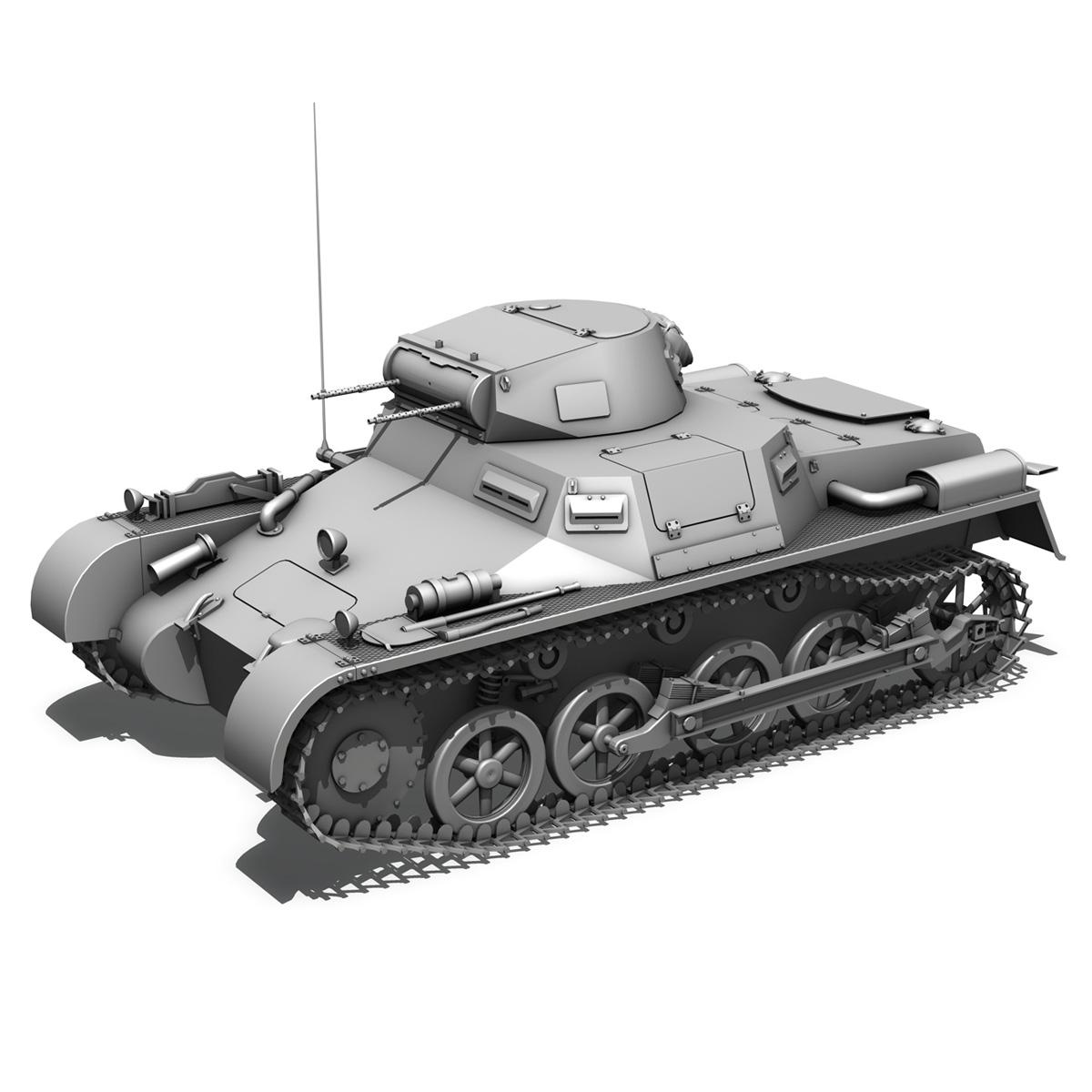 sd.kfz 101 pzkpfw 1 ausfuehrung a 3d model 3ds fbx c4d lwo obj 188867