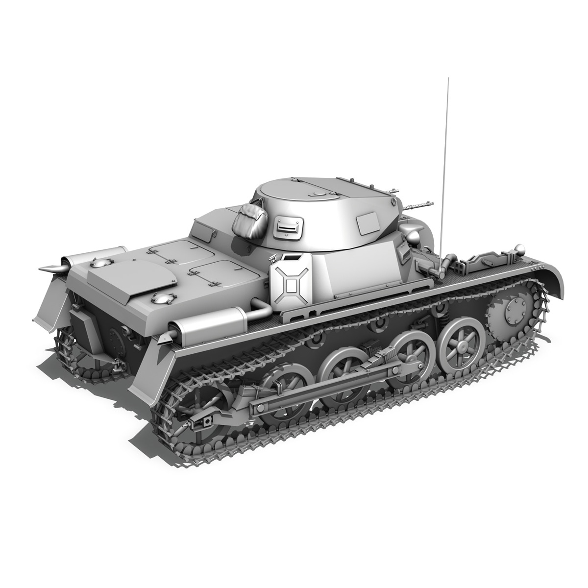 sd.kfz 101 pzkpfw 1 ausfuehrung a 3d model 3ds fbx c4d lwo obj 188869