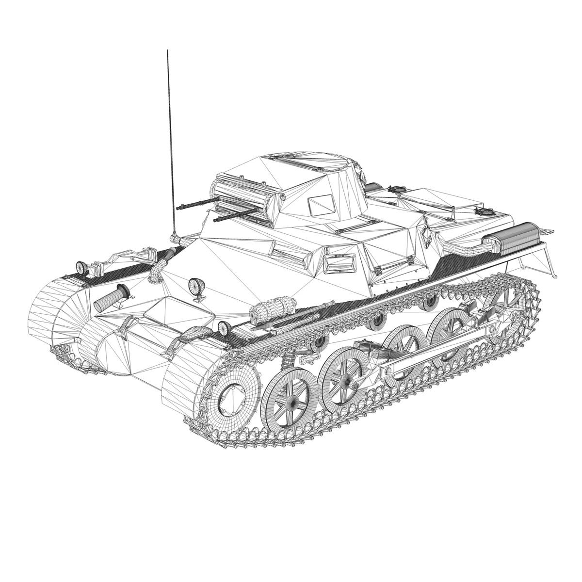 sd.kfz 101 pzkpfw 1 ausfuehrung a 3d model 3ds fbx c4d lwo obj 188872