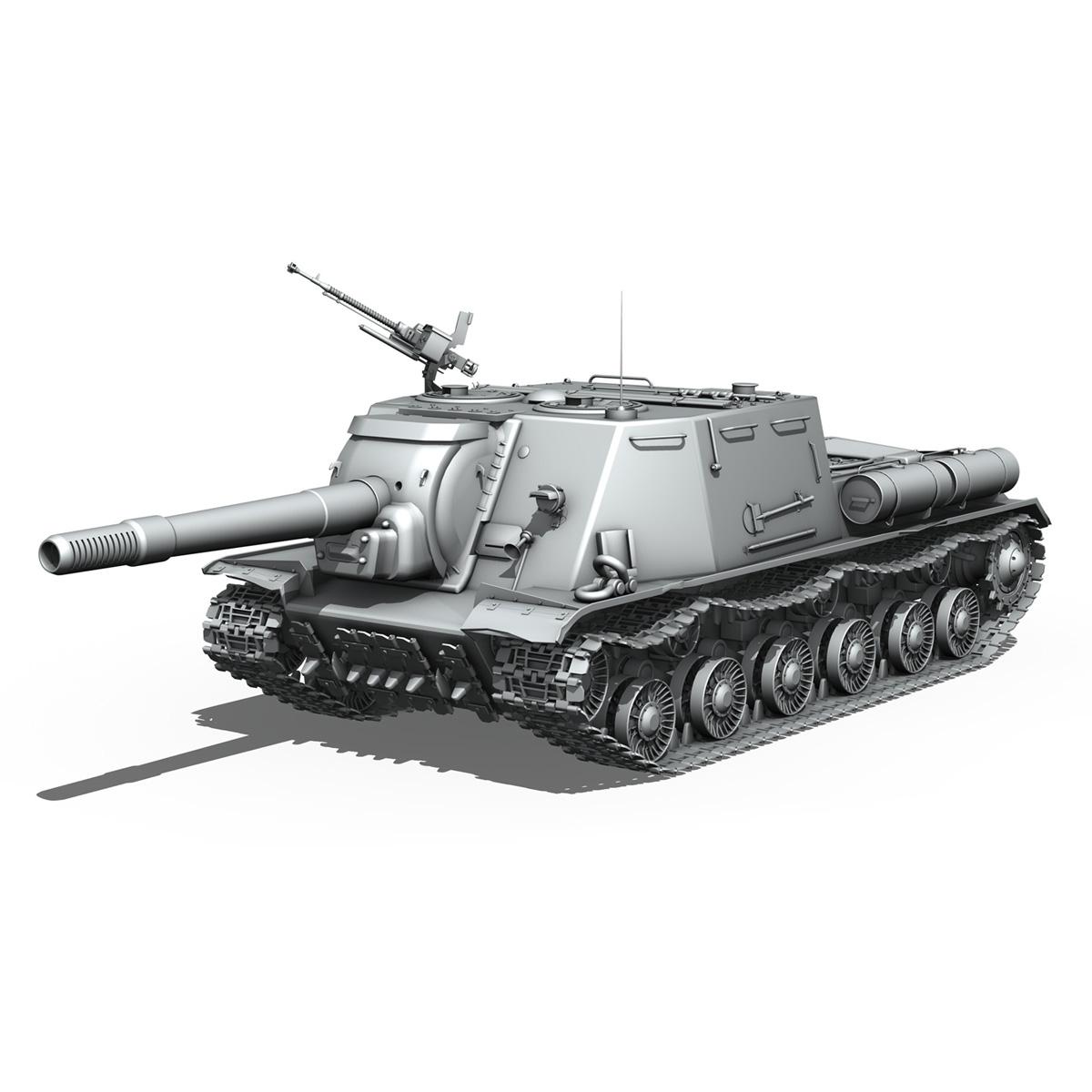 isu 152 soviet heavy self propelled gun v2 3d model 3ds fbx c4d lwo obj 188875