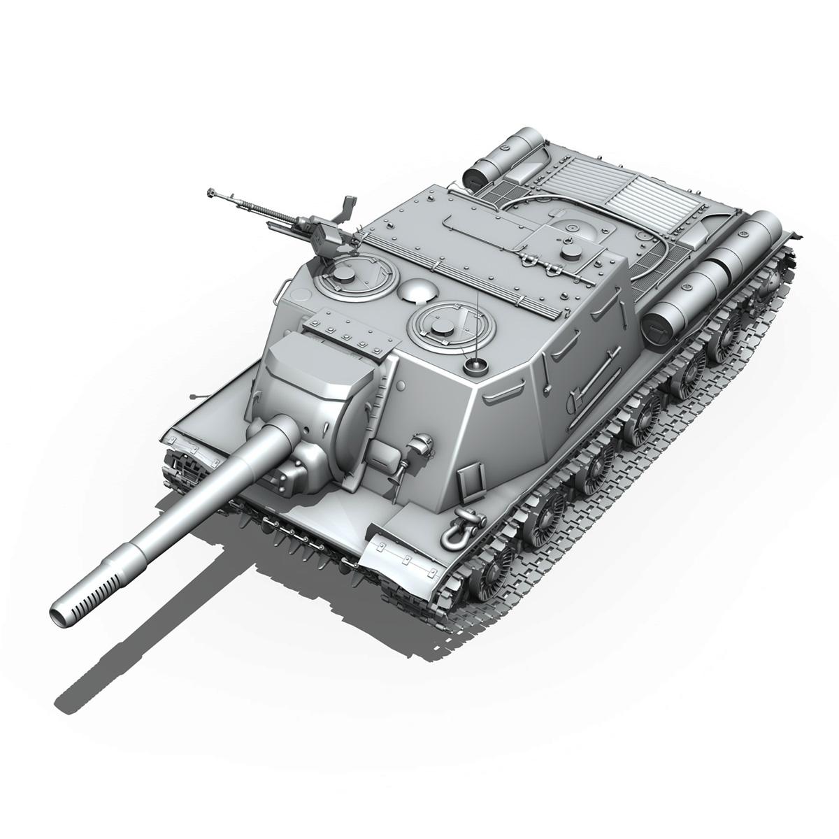 isu 152 soviet heavy self propelled gun v2 3d model 3ds fbx c4d lwo obj 188876