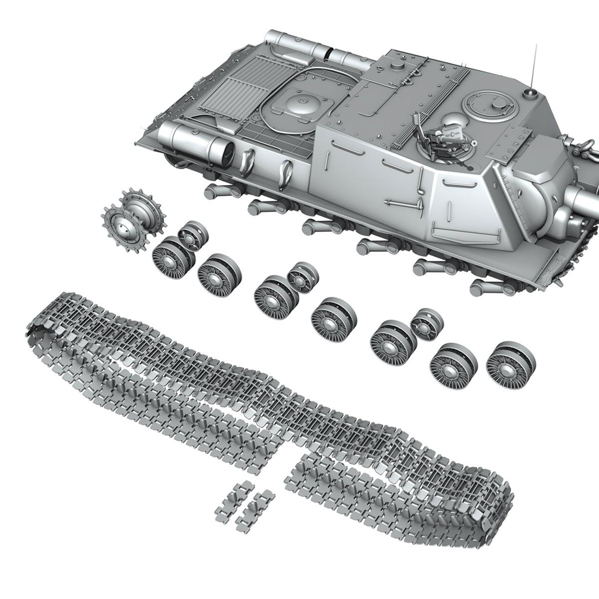 isu 152 soviet heavy self propelled gun v2 3d model 3ds fbx c4d lwo obj 188882