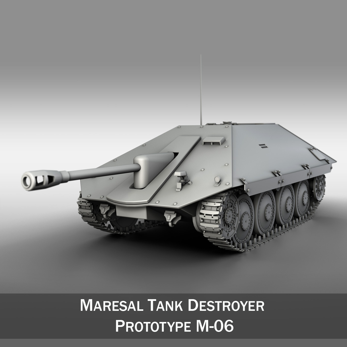 maresal m06 – romanian tank destroyer 3d model 3ds fbx c4d lwo obj 188887