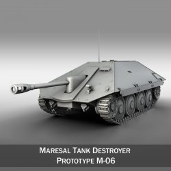 Maresal M06 - Romanian tank destroyer 3d model 3ds fbx c4d lwo lws lw obj