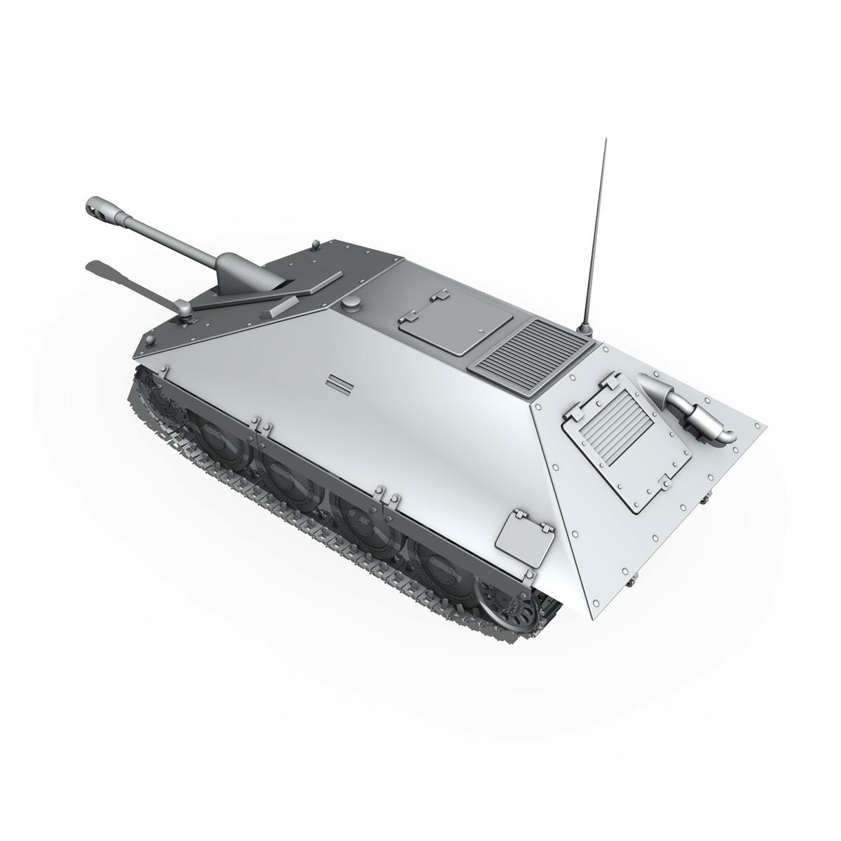 maresal m06 – romanian tank destroyer 3d model 3ds fbx c4d lwo obj 188890