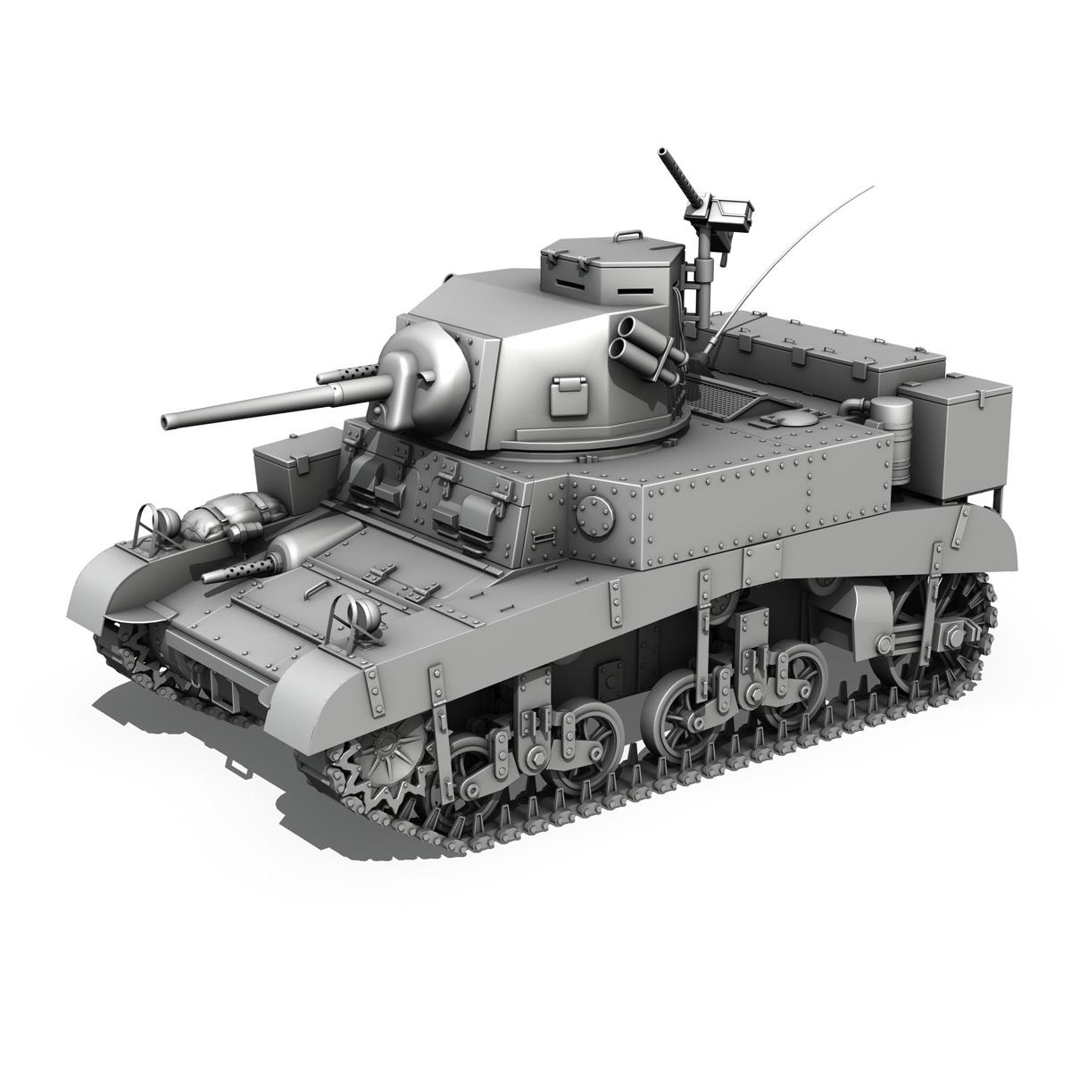 m3 light tank – honey 3d model 3ds fbx c4d lwo obj 188902