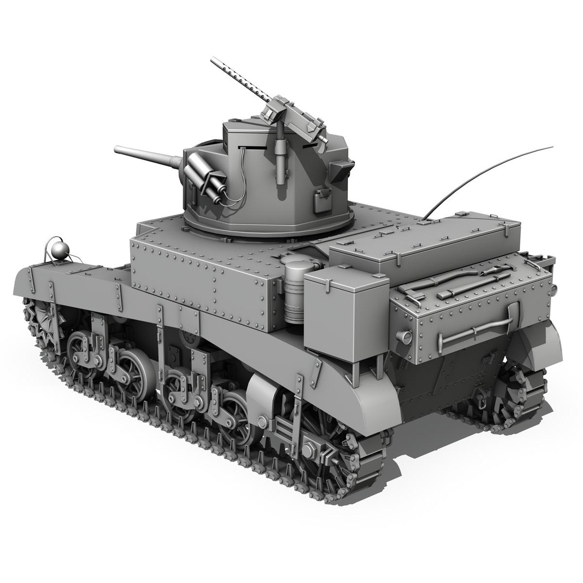 m3 light tank – honey 3d model 3ds fbx c4d lwo obj 188903