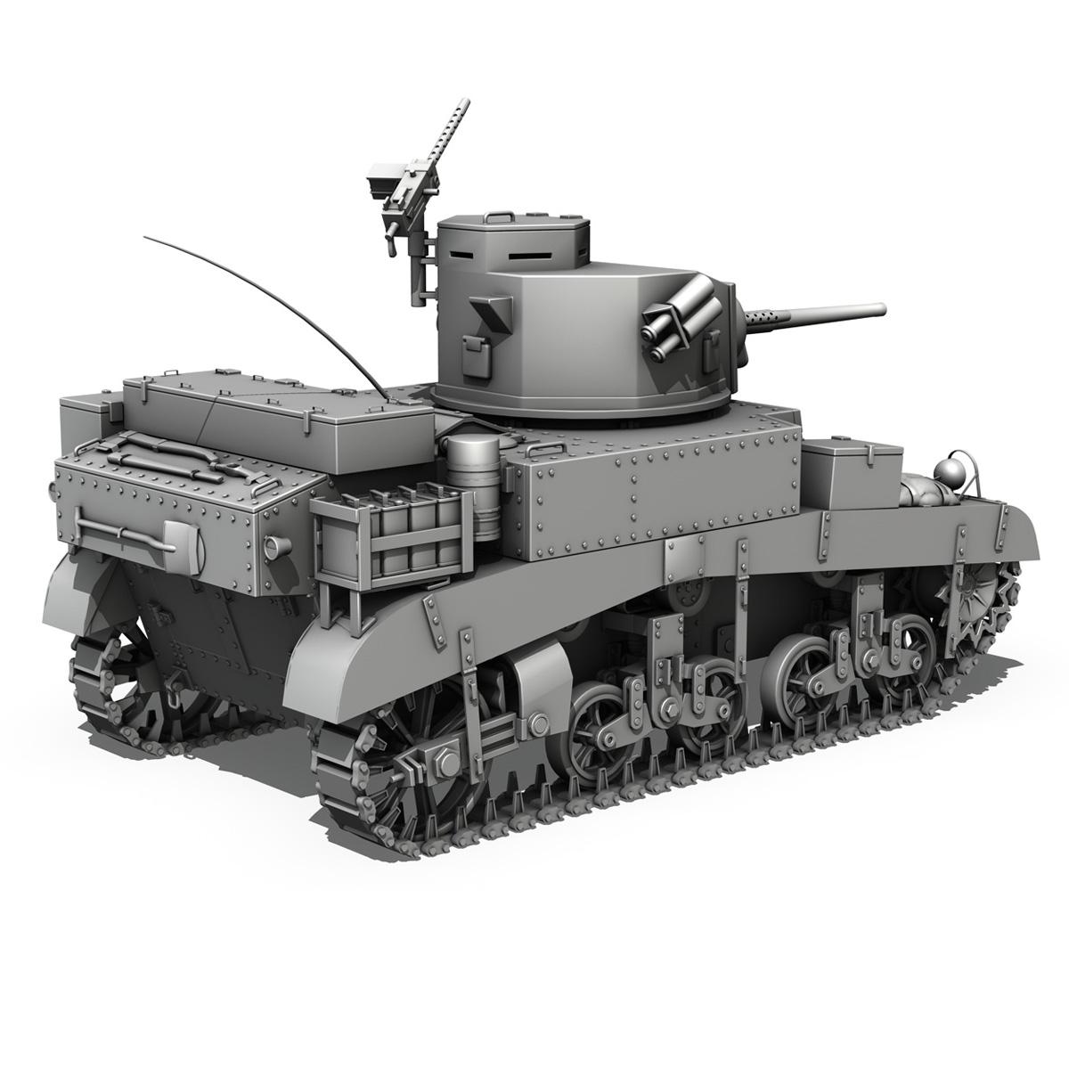 m3 light tank – honey 3d model 3ds fbx c4d lwo obj 188904