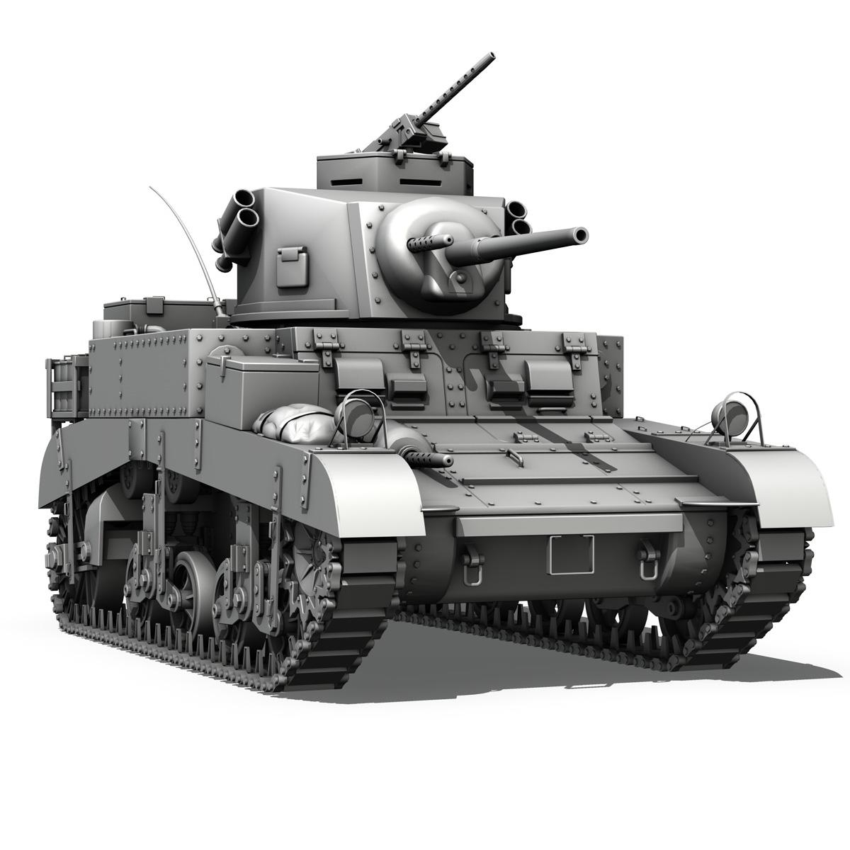 m3 light tank – honey 3d model 3ds fbx c4d lwo obj 188905