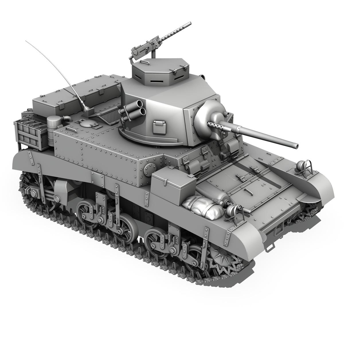 m3 light tank – honey 3d model 3ds fbx c4d lwo obj 188906