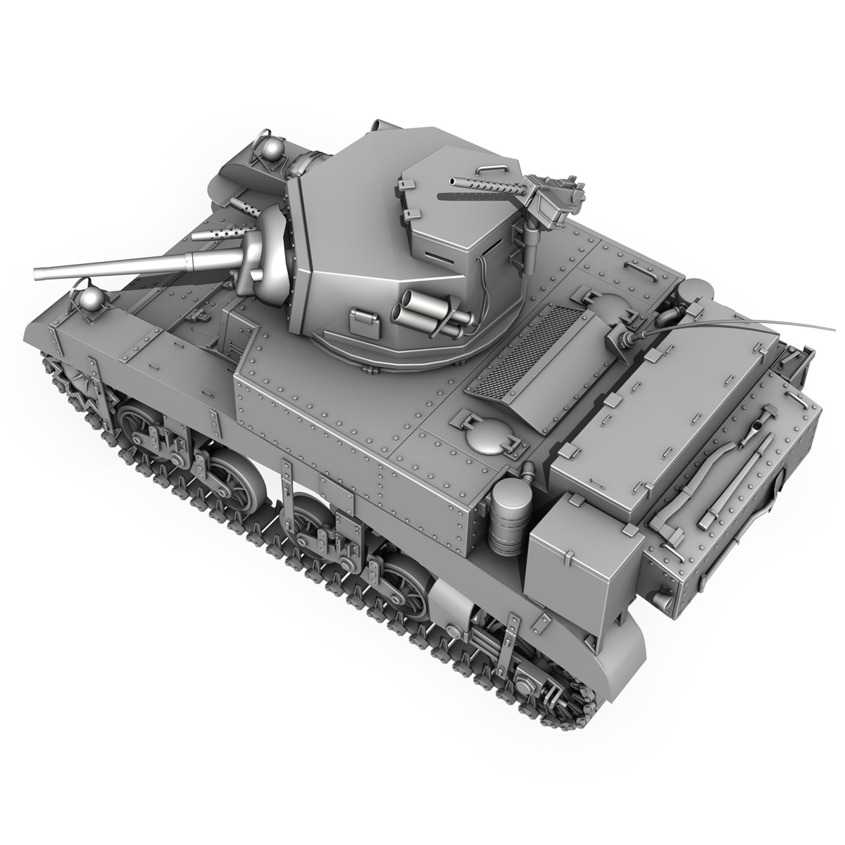 m3 light tank – honey 3d model 3ds fbx c4d lwo obj 188907
