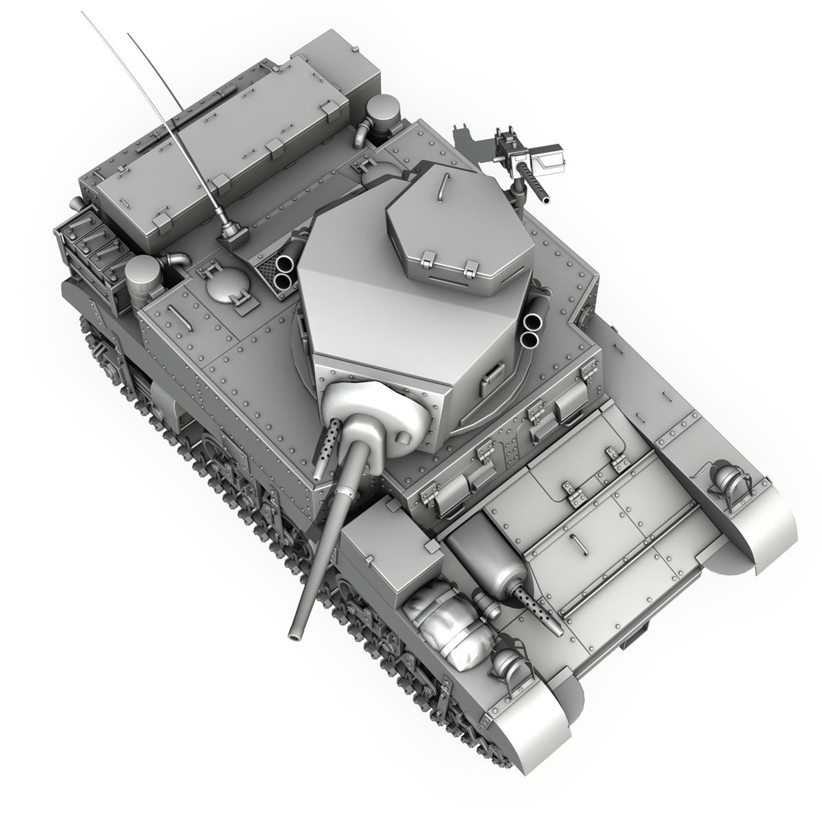 m3 light tank – honey 3d model 3ds fbx c4d lwo obj 188908