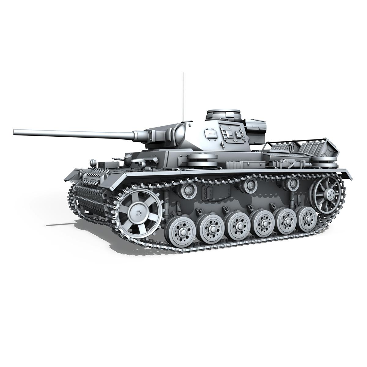 sd.kfz 141 pzkpfw 3 panzer 3 ausf.j 3d model 3ds fbx c4d lwo obj 188993