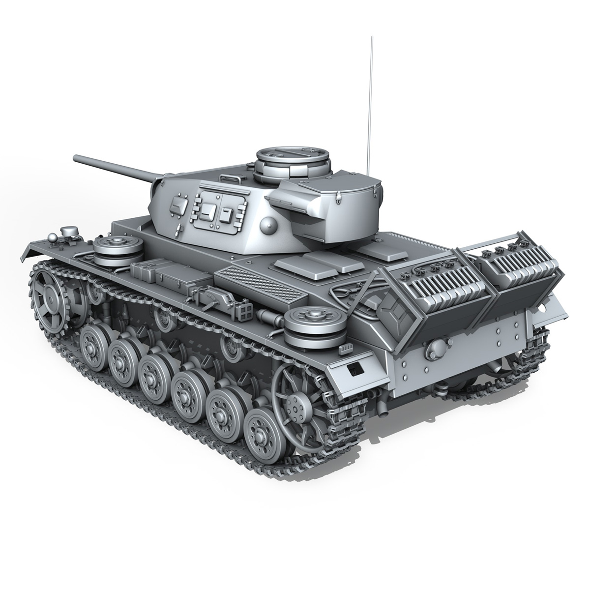 sd.kfz 141 pzkpfw 3 panzer 3 ausf.j 3d model 3ds fbx c4d lwo obj 188994