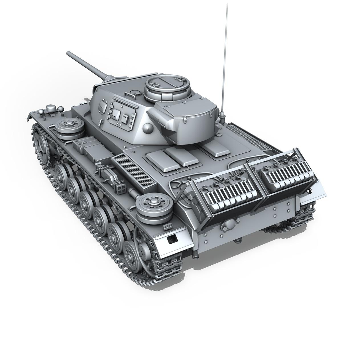 sd.kfz 141 pzkpfw 3 panzer 3 ausf.j 3d model 3ds fbx c4d lwo obj 188995