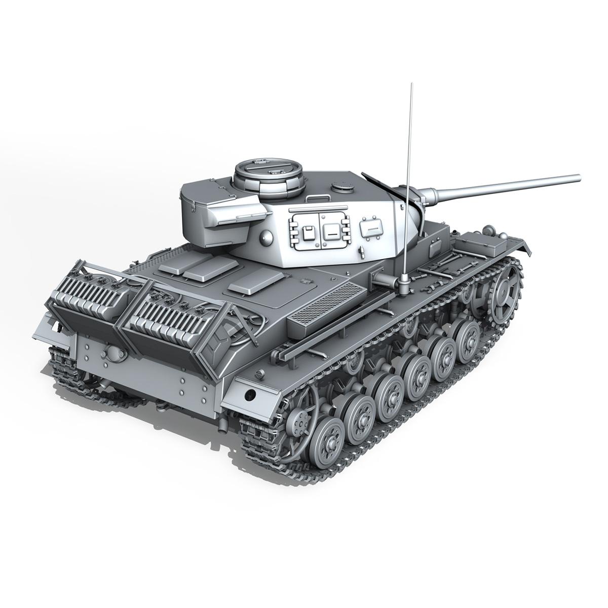 sd.kfz 141 pzkpfw 3 panzer 3 ausf.j 3d model 3ds fbx c4d lwo obj 188996