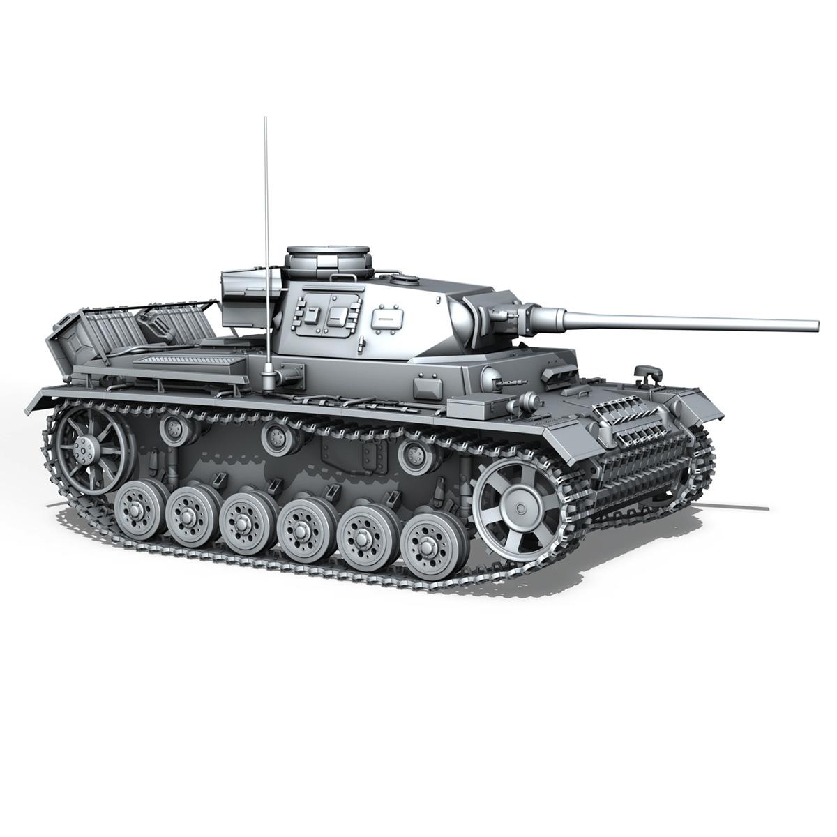 sd.kfz 141 pzkpfw 3 panzer 3 ausf.j 3d model 3ds fbx c4d lwo obj 188997