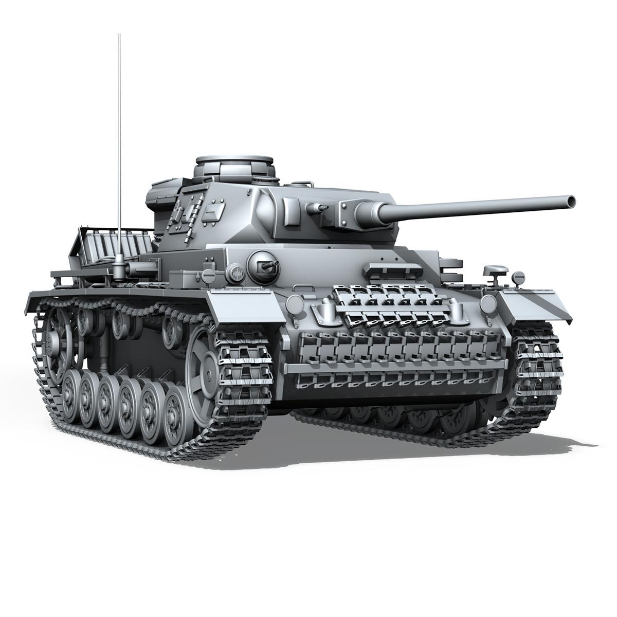sd.kfz 141 pzkpfw 3 panzer 3 ausf.j 3d model 3ds fbx c4d lwo obj 188998
