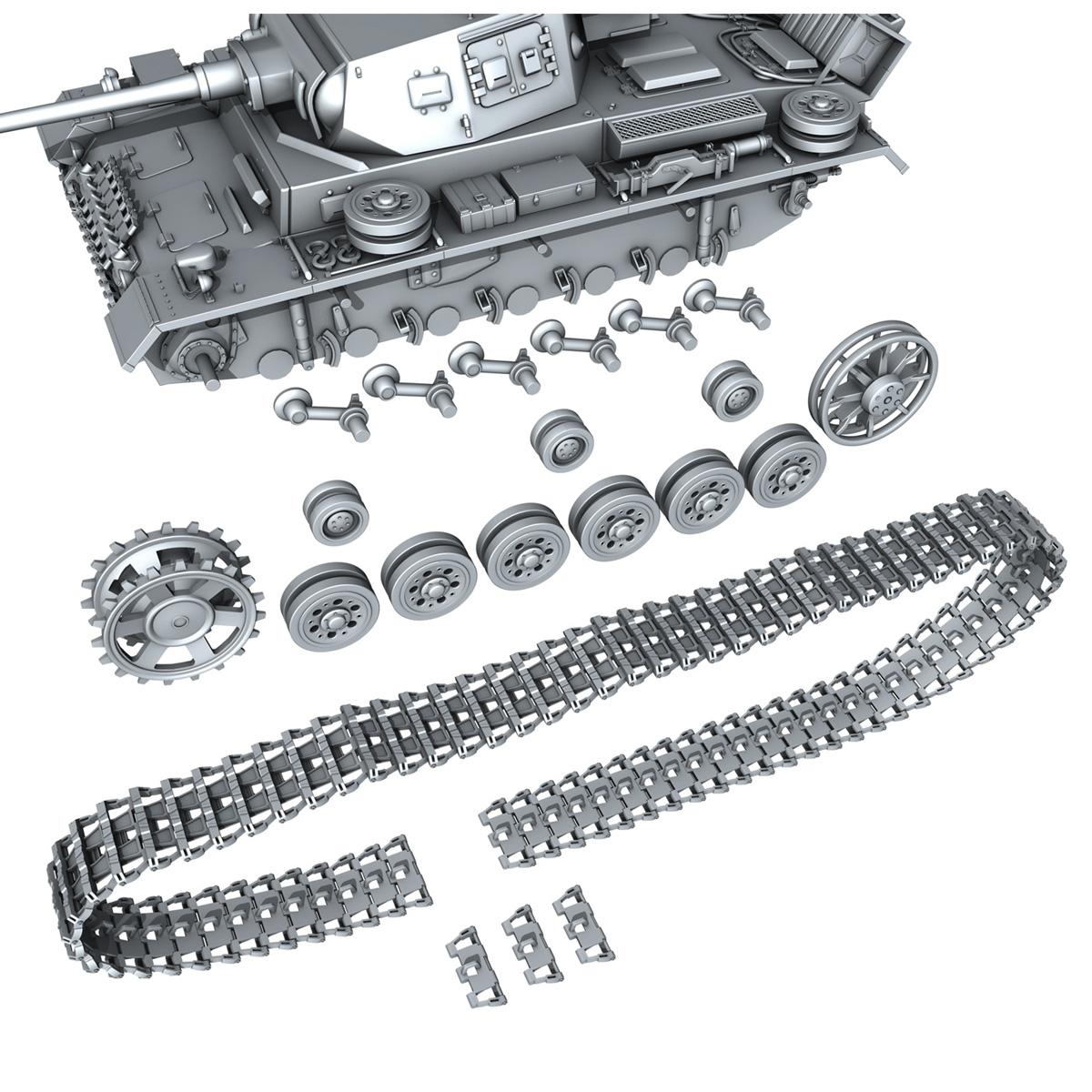 sd.kfz 141 pzkpfw 3 panzer 3 ausf.j 3d model 3ds fbx c4d lwo obj 188999