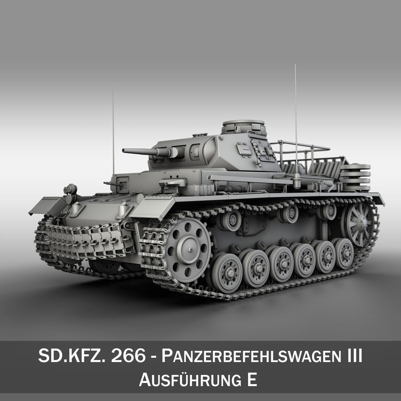 pzbefwg iii - ausf.e - tanc gorchymyn model 3d 3ds fbx c4d lwo obj 189039