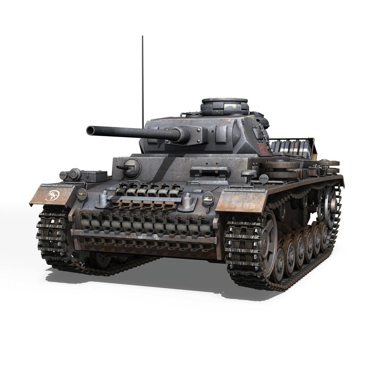 pzkpfw iii – panzer 3 – ausf.j – 523 3d model 3ds fbx c4d lwo obj 189075