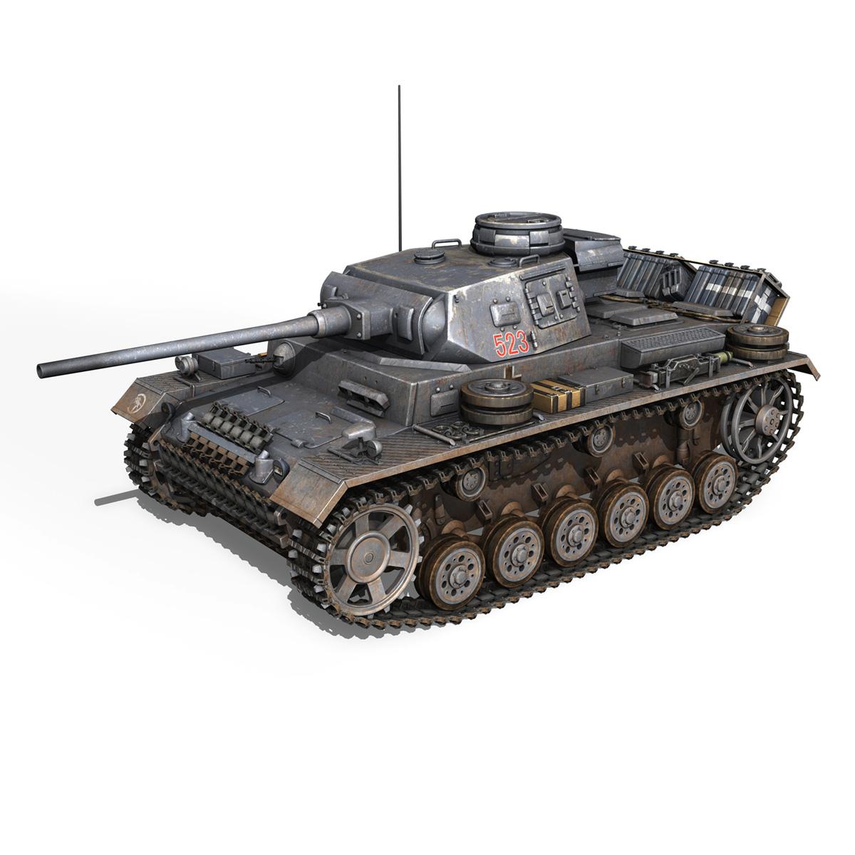 pzkpfw iii – panzer 3 – ausf.j – 523 3d model 3ds fbx c4d lwo obj 189076