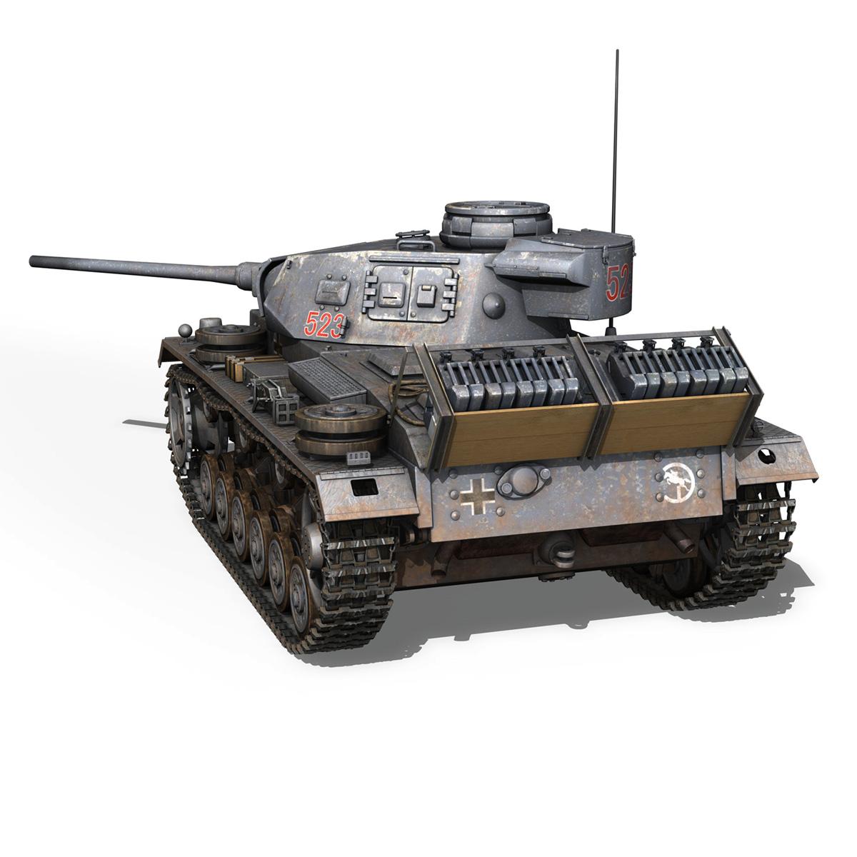 pzkpfw iii – panzer 3 – ausf.j – 523 3d model 3ds fbx c4d lwo obj 189078