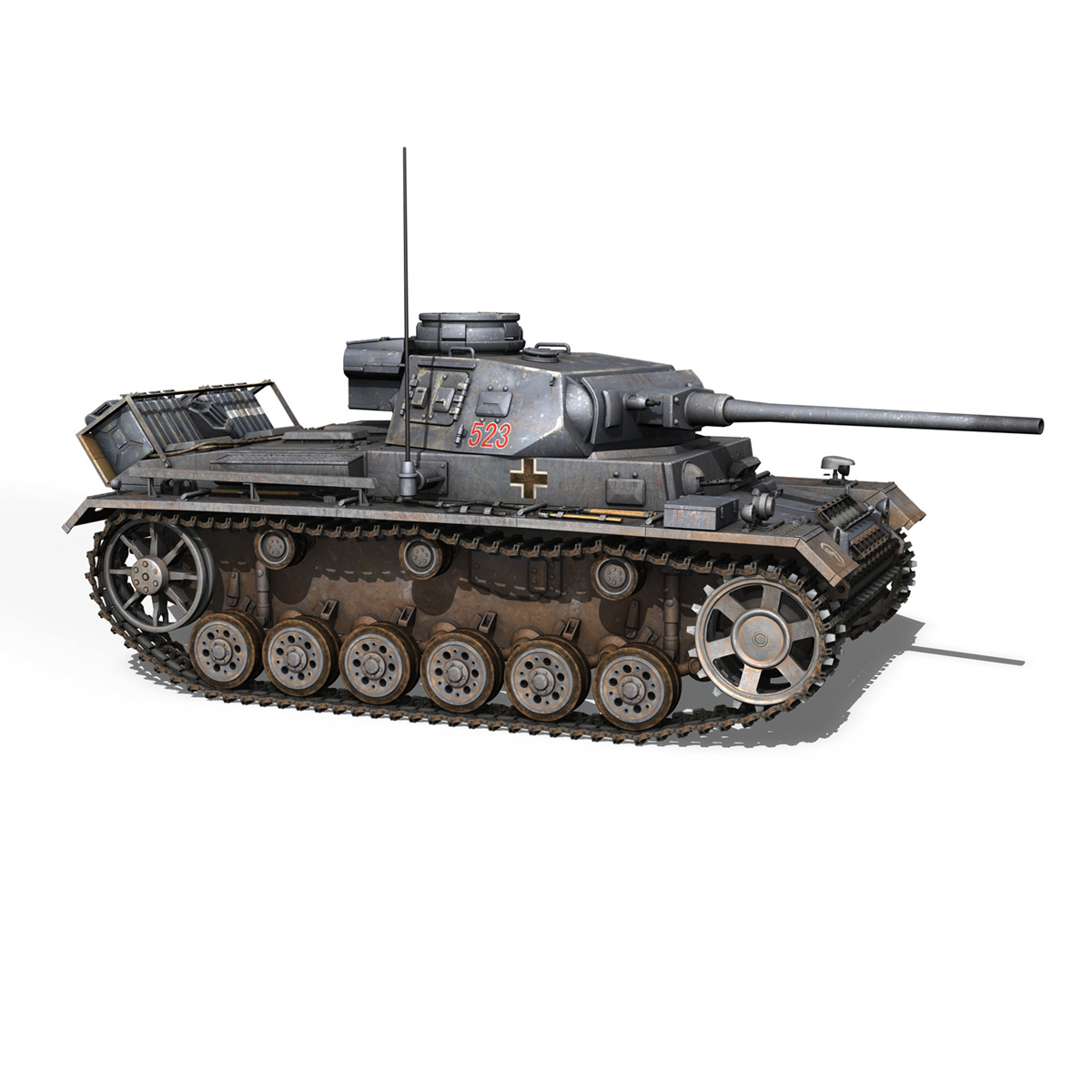 pzkpfw iii – panzer 3 – ausf.j – 523 3d model 3ds fbx c4d lwo obj 189080