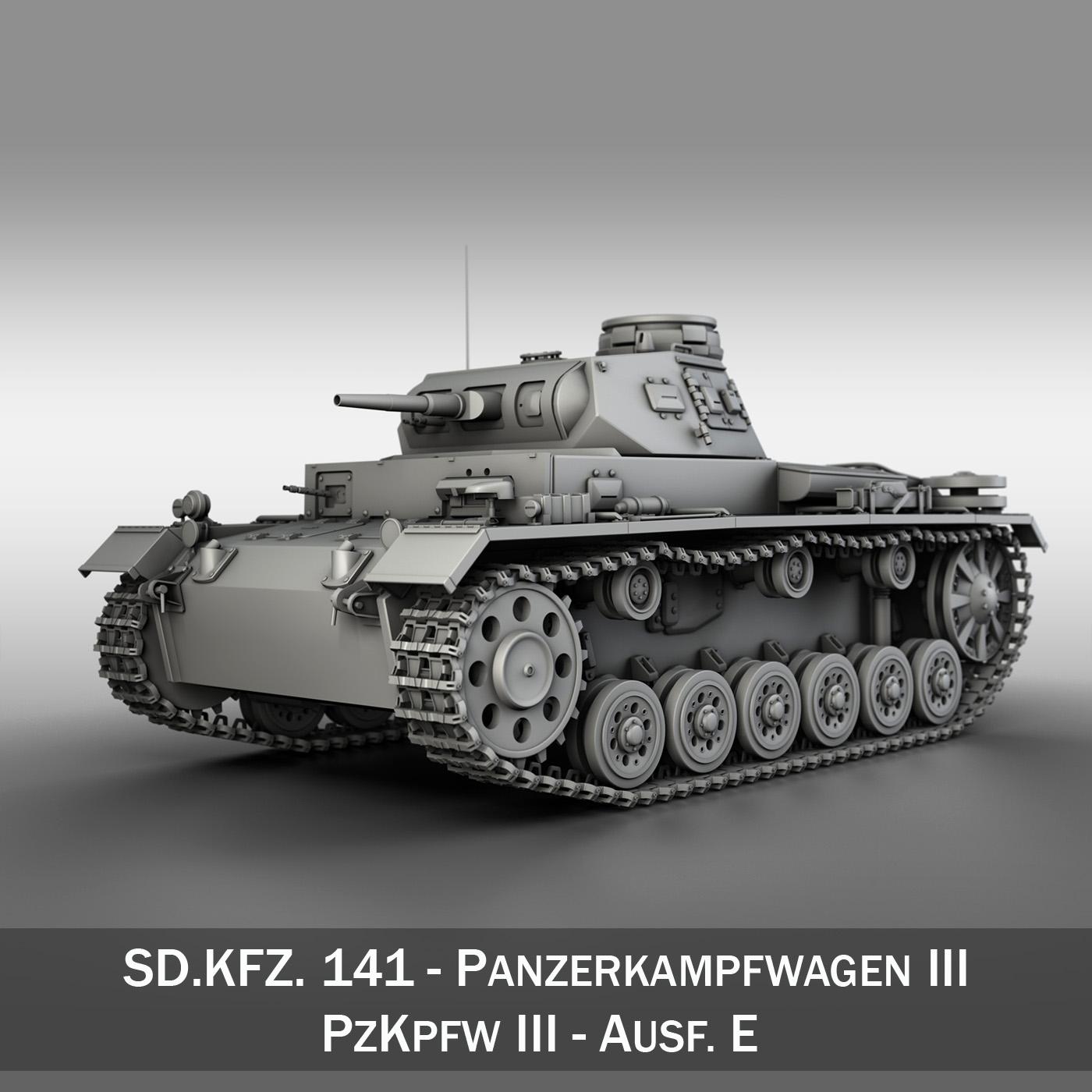 sd.kfz 141 pzkpfw 3 – panzer 3 – ausf.e 3d model 3ds fbx c4d lwo obj 189115
