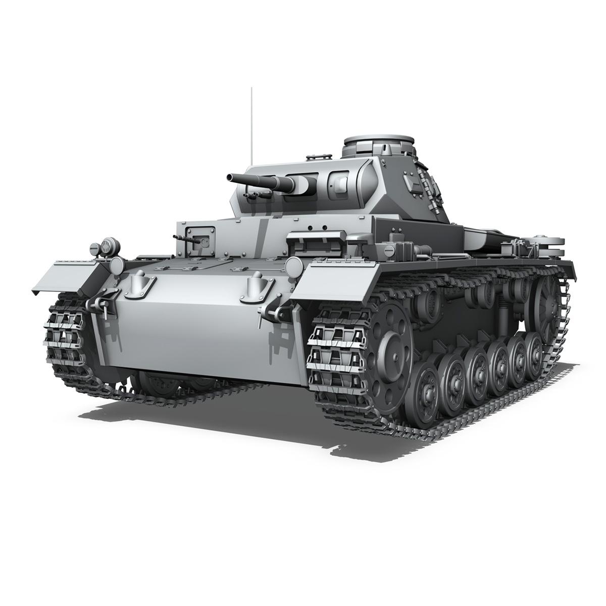 sd.kfz 141 pzkpfw 3 – panzer 3 – ausf.e 3d model 3ds fbx c4d lwo obj 189116