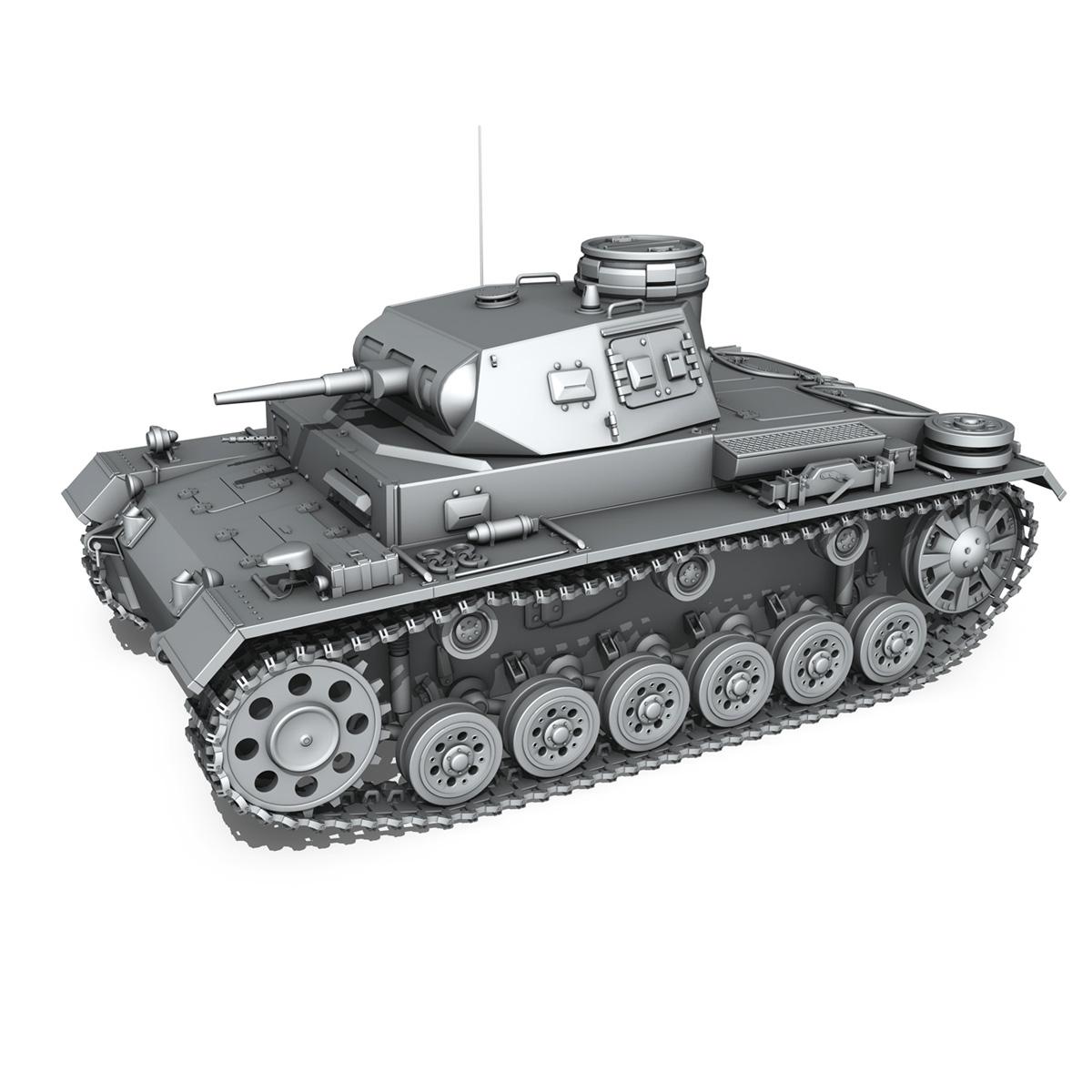 sd.kfz 141 pzkpfw 3 – panzer 3 – ausf.e 3d model 3ds fbx c4d lwo obj 189117