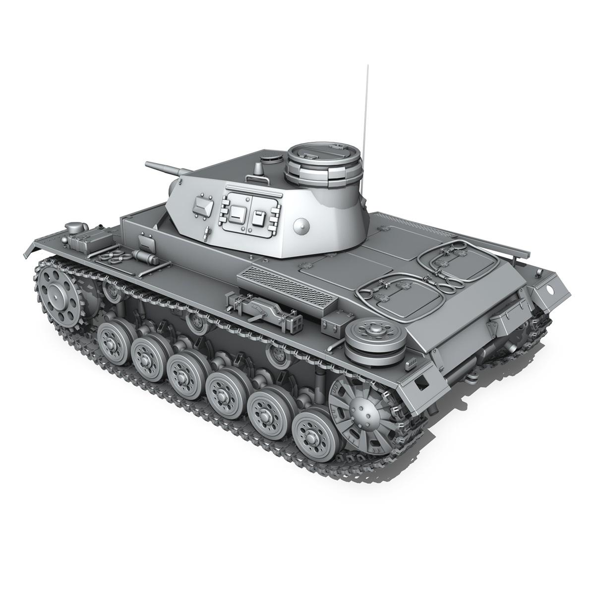 sd.kfz 141 pzkpfw 3 – panzer 3 – ausf.e 3d model 3ds fbx c4d lwo obj 189118