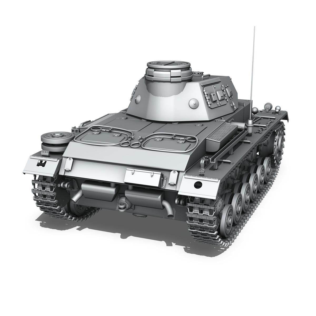 sd.kfz 141 pzkpfw 3 – panzer 3 – ausf.e 3d model 3ds fbx c4d lwo obj 189119