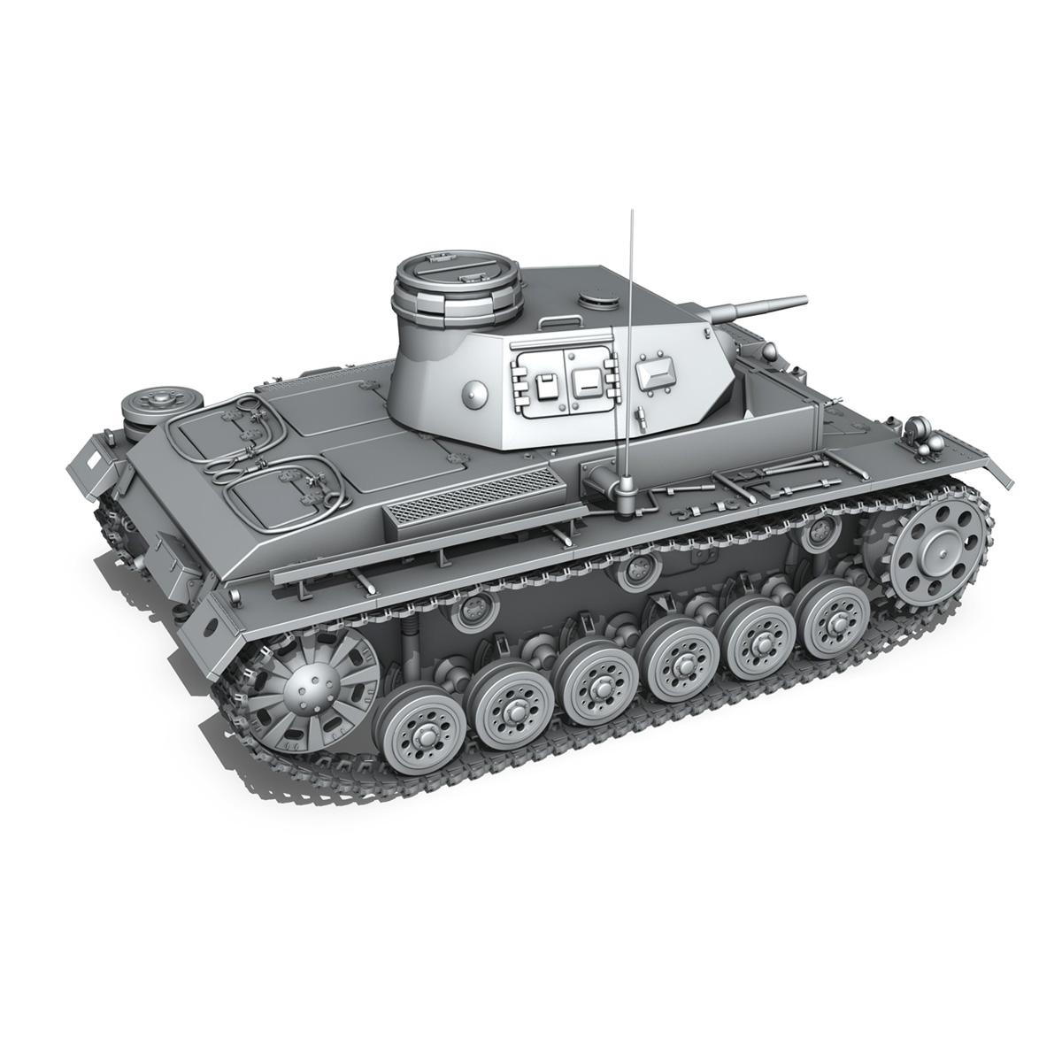 sd.kfz 141 pzkpfw 3 – panzer 3 – ausf.e 3d model 3ds fbx c4d lwo obj 189120