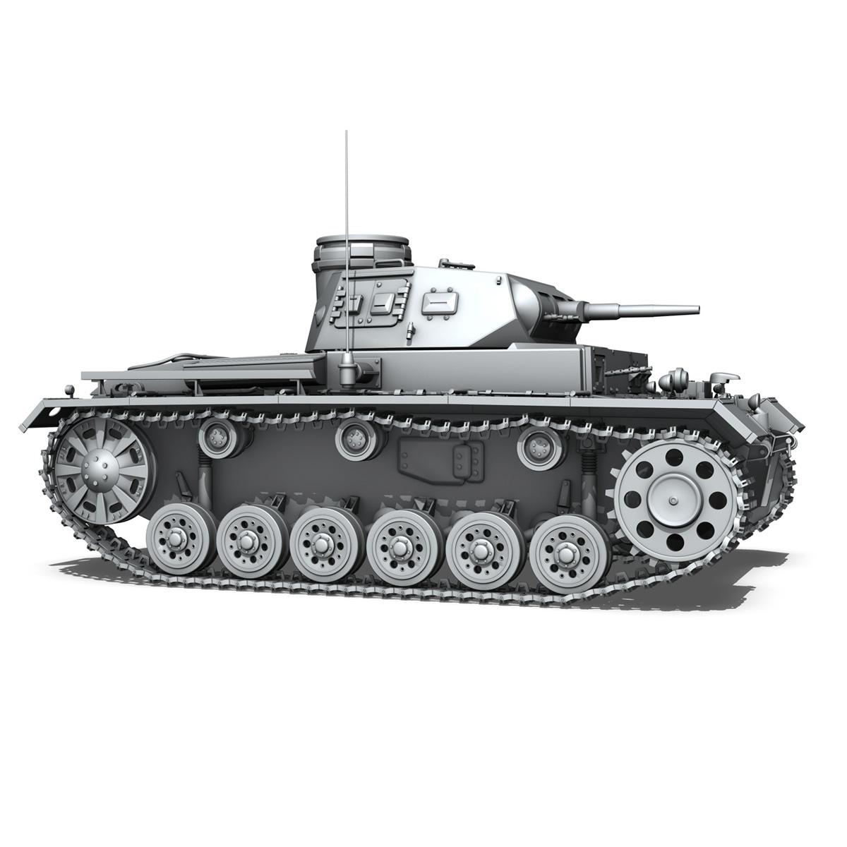 sd.kfz 141 pzkpfw 3 – panzer 3 – ausf.e 3d model 3ds fbx c4d lwo obj 189121