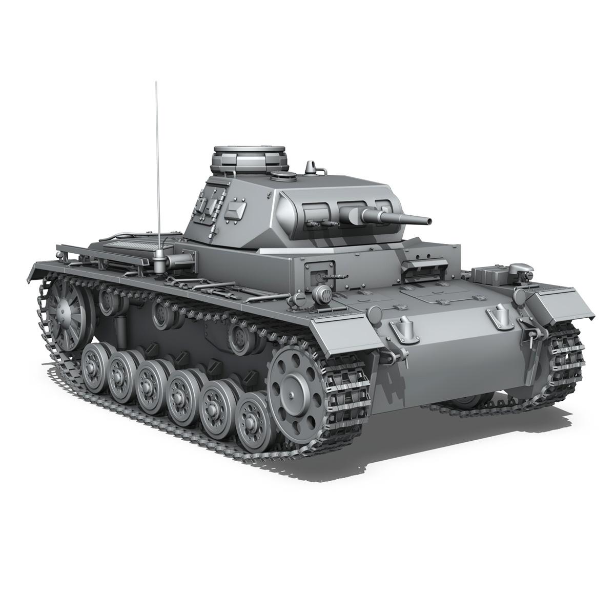 sd.kfz 141 pzkpfw 3 – panzer 3 – ausf.e 3d model 3ds fbx c4d lwo obj 189122
